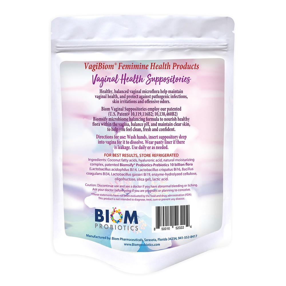 Biom Vaginal Probiotic Prebiotic Suppository | Biom Vaginal Suppositories