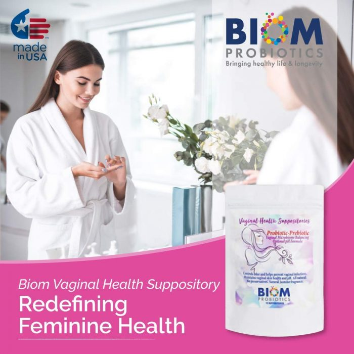 Gut Microbiome Human Health Probiotics | Biom Probiotics | Probiotics | Vaginal Health Suppository | BIOM Probiotic Vaginal Suppository