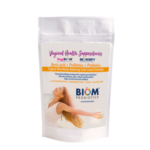 BIOM ACID+PROBIOTICS+ PREBIOTICS SUPPOSITORY | Vaginal Health