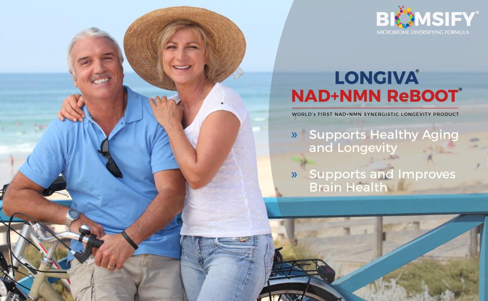 Supports and Improves Brain Health | Biom Probiotics | Biom NAD+NMN Sublingual Powder