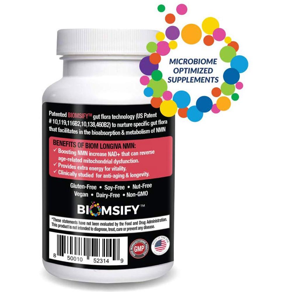 Supports Healthy Aging and Longevity | Biom Probiotics | Biom NMN Longiva